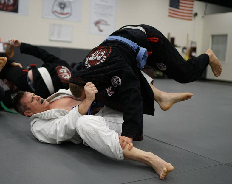 men grappling