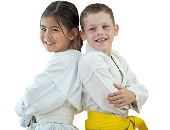 2 happy karate kids