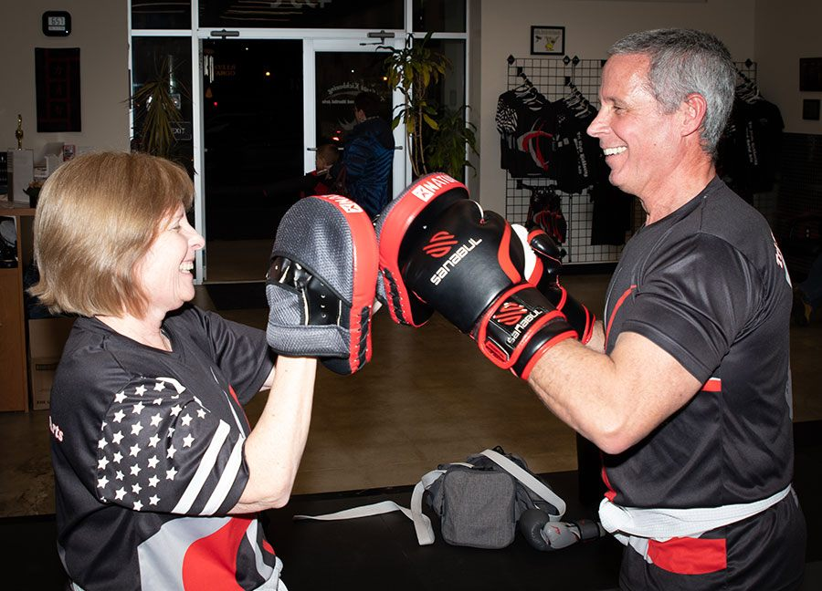 adult martial arts training